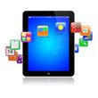 Tablet pc apps icons