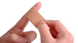finger mit pflaster