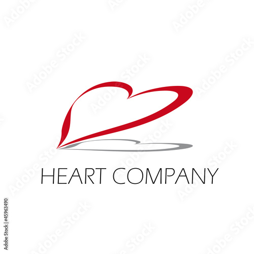 Vector logo heart