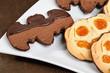 Biscotti di halloween- Halloween cookies, closeup