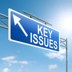 Key issues concept.
