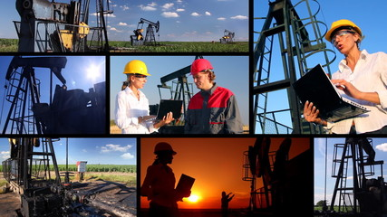 Workers in an Oilfield, multiscreen