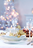 Fototapety Place setting for Christmas
