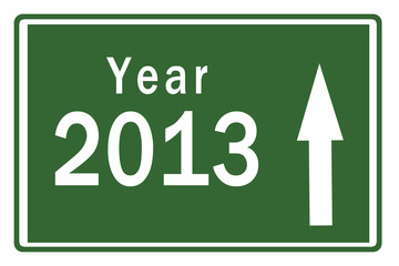 Happy New Year 2013 on Highway Board