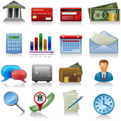 business and bank icons