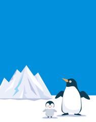 ペンギンと氷山