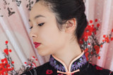 Beautiful woman wearing traditional Asian clothing