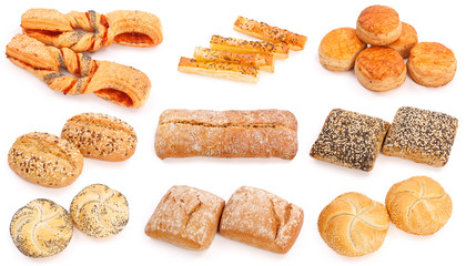 Assorted baked products