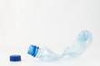 Empty plastic bottle crushed