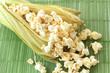 Pop corn in sweet corn