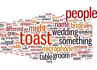 Wedding toast activities