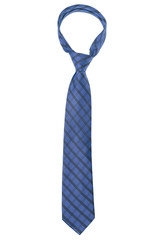 checked dark blue tie