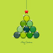 Christmas Tree Christmas Balls Pattern Green/Light Green/Silver
