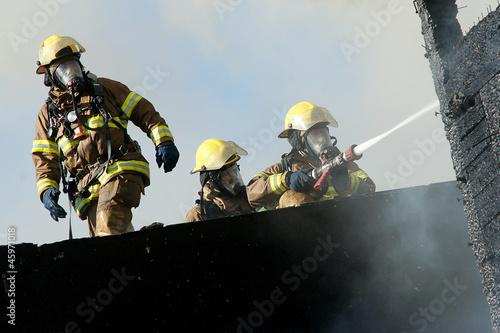 Leinwanddruck Bild Firefighters