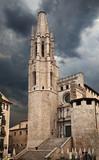 Church of Sant Feliu in Girona (Saint Felix). Spain poster