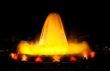 view of famous Montjuic Fountain in Barcelona. Spain. poster