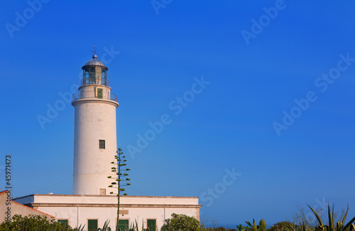 Formentera La Mola lighthouse at Balearic islands