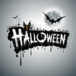 Happy Halloween text design background, vector