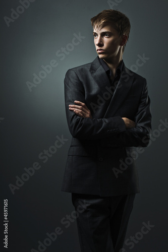 handsome man in a business suit