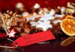 Weihnachtskarte mit Gewürzdekoration