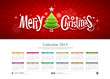 Calendar 2013 Merry christmas background, vector