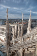 City view of Milan, Italy from Milan Cathedral