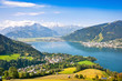canvas print picture - Panoramic view of Zell am See in Salzburg, Austria