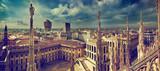 Mediolan, Włochy. Panorama miasta. Widok na Pałac Królewski