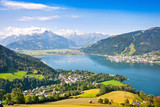 Fototapety Panoramic view of Zell am See in Salzburg, Austria