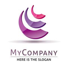 Template logo société business 3d