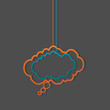 social media hanging speech clouds