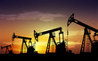 Leinwanddruck Bild - pump jack oil field