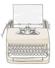 Cream Typewriter vintage
