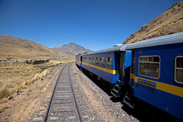 Views from the Andean Explorer Train travelling through the Ande
