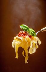 Fettuccine al pomodoro - hot pasta with tomato sauce