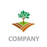 Logo Organic farming, Greengrocer # Vector
