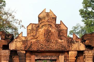 Dintel de Banteay Srei. Camboya