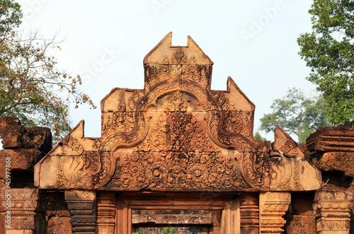 Foto Murales Dintel de Banteay Srei. Camboya