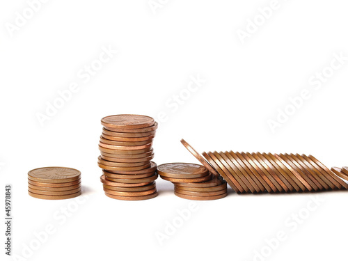 Three stacks of coins 3