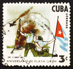 Postage stamp Cuba 1962 Bay of Pigs Invasion