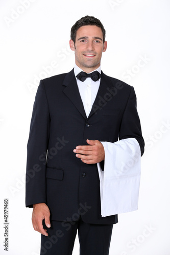 portrait of a waiter