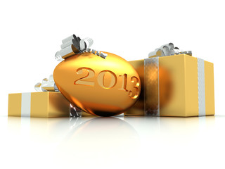 wishes gold eggs for 2013 year