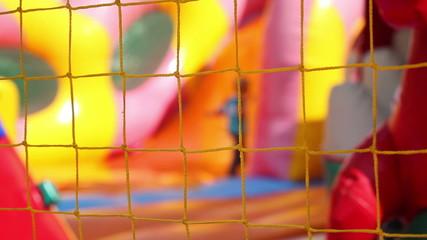 children on the playground, not in focus