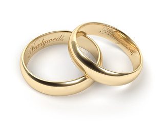 Wedding rings, engraved