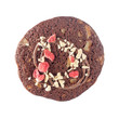 Chocolate cookie with strawberry