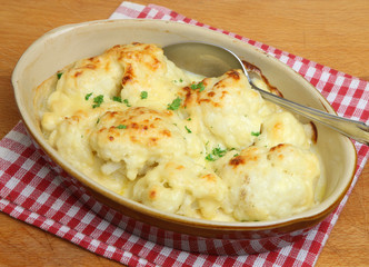 Cauliflower Cheese in Serving Dish