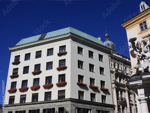 downtown Vienna with blue sky