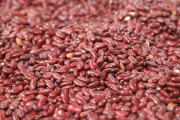 Red beans in a grocery