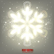 Elegant glowing snowflake. Vector Background