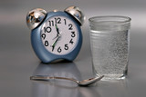 glass of water in time